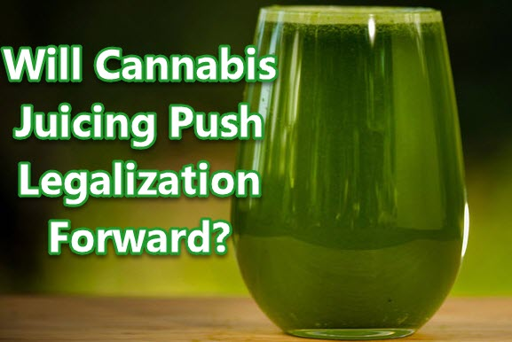 JUICING CANNABIS PUSHES LEGALIZATION