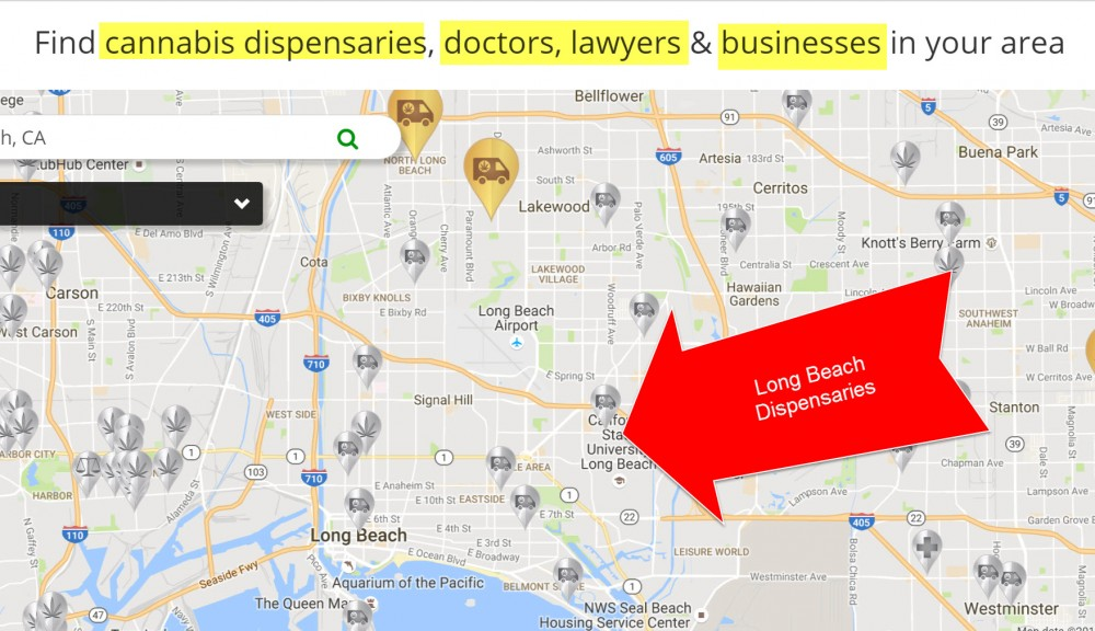 90804 Zip Code Map.Long Beach Dispensaries Are Solid Gold Good Times