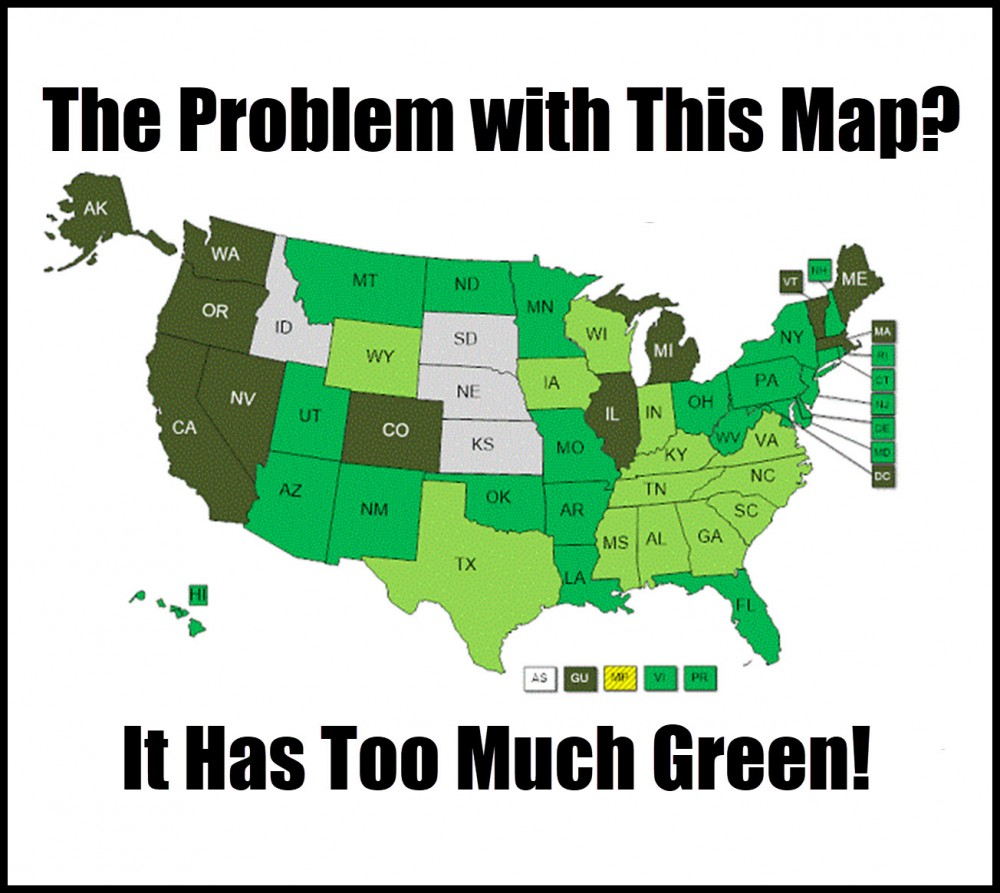 state-by-state map of marijuana legalization