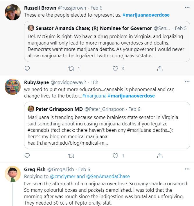 marijuana overdose on twitter trend