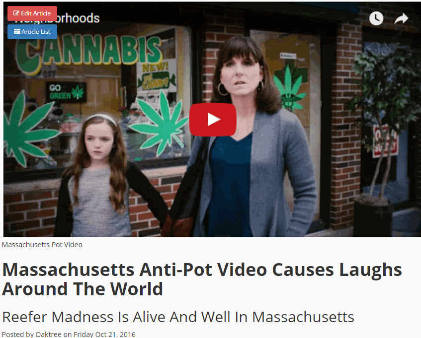 MASS ANTI-POT VIDEO PARODY