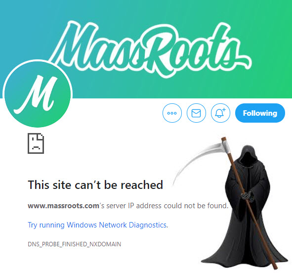 MASSROOTS IS DOWN