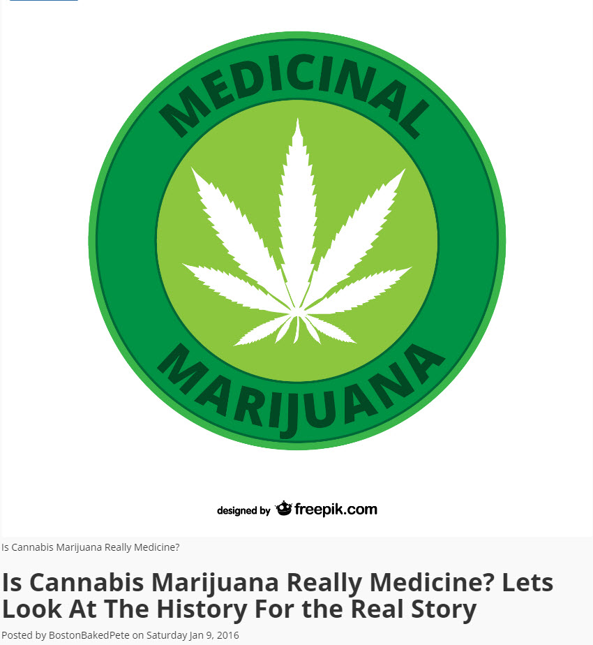 IS CANNABIS MEDICINE