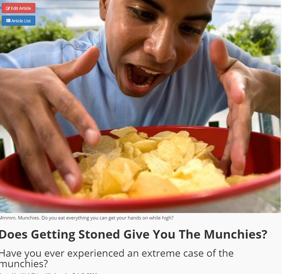 DOES CANNABIS GIVE YOU THE MUNCHIES