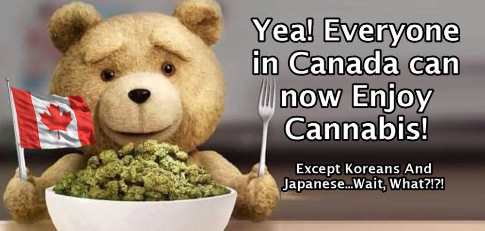 Japanese and Koreans in Canada using cannabis