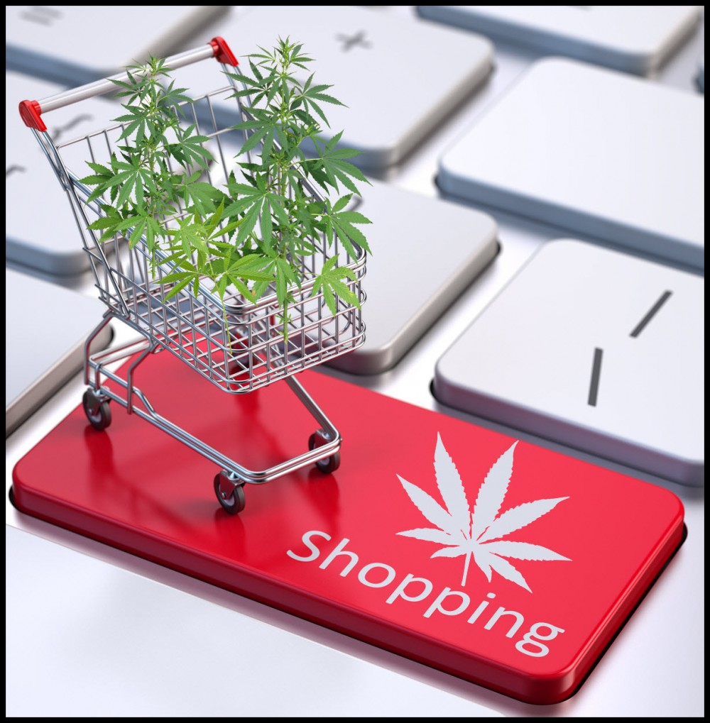 online marijuana shopping or at a dispensary