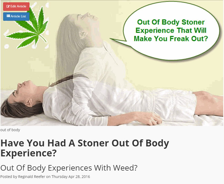 CANNABIS AND OUTER BODY EXPERIENCES