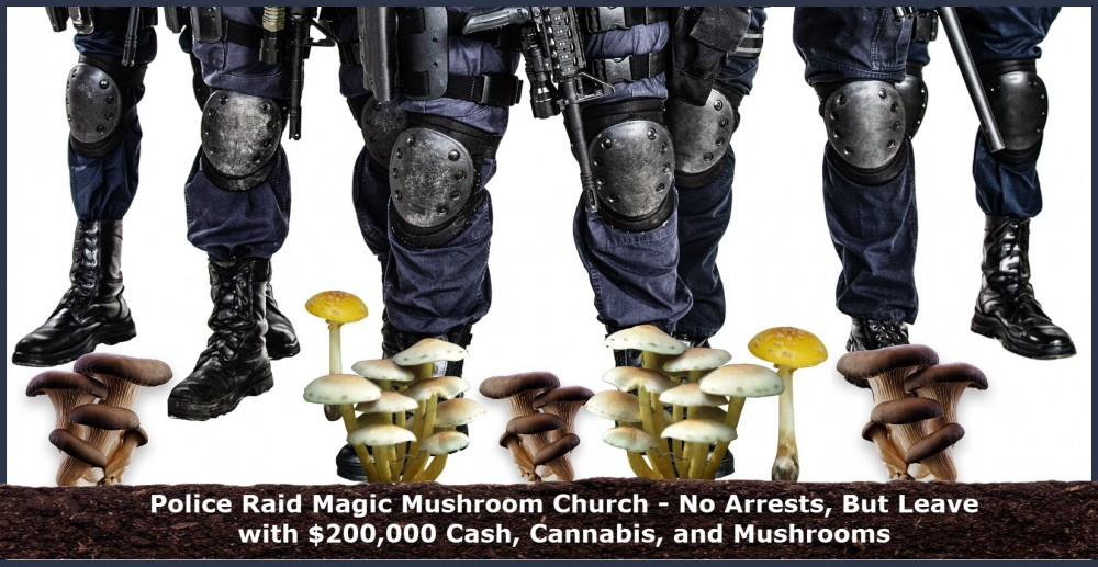 police raid magic mushrooms