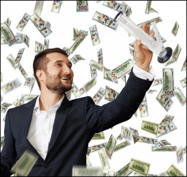 geld inzamelen voor een marihuanabedrijf