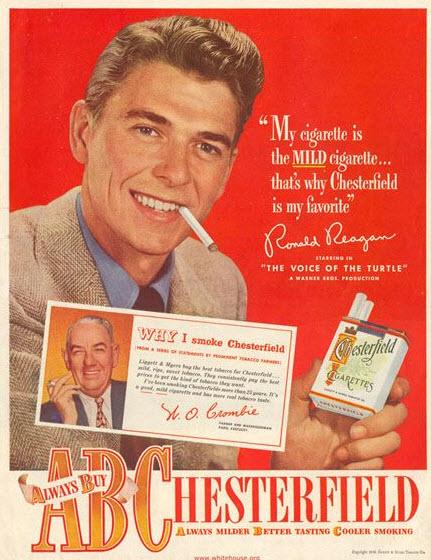 ronald regan cigaretts