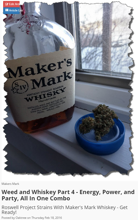 WHISKEY AND WEED