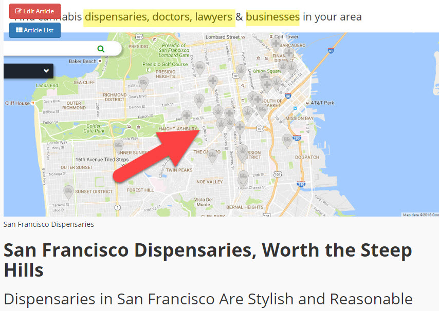 SAN FRAN DISPENSARIES