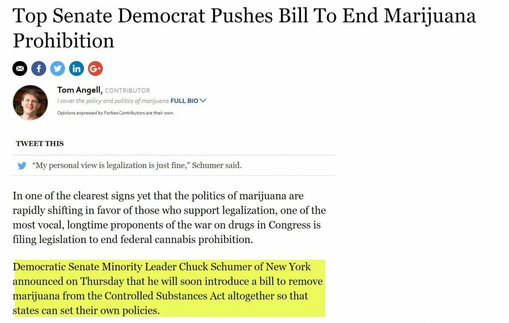 Schumer on legalization