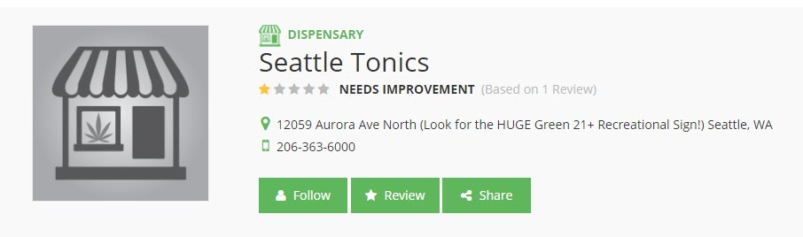 Seattle Tonic Dispensary
