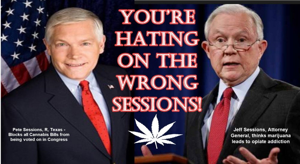 PETE SESSIONS AND JEFF SESSIONS MARIJUANA