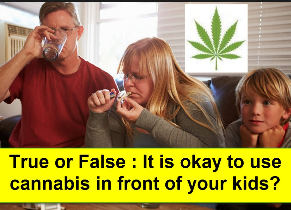 PARENTS USING CANNABIS INFRONT OF KIDS