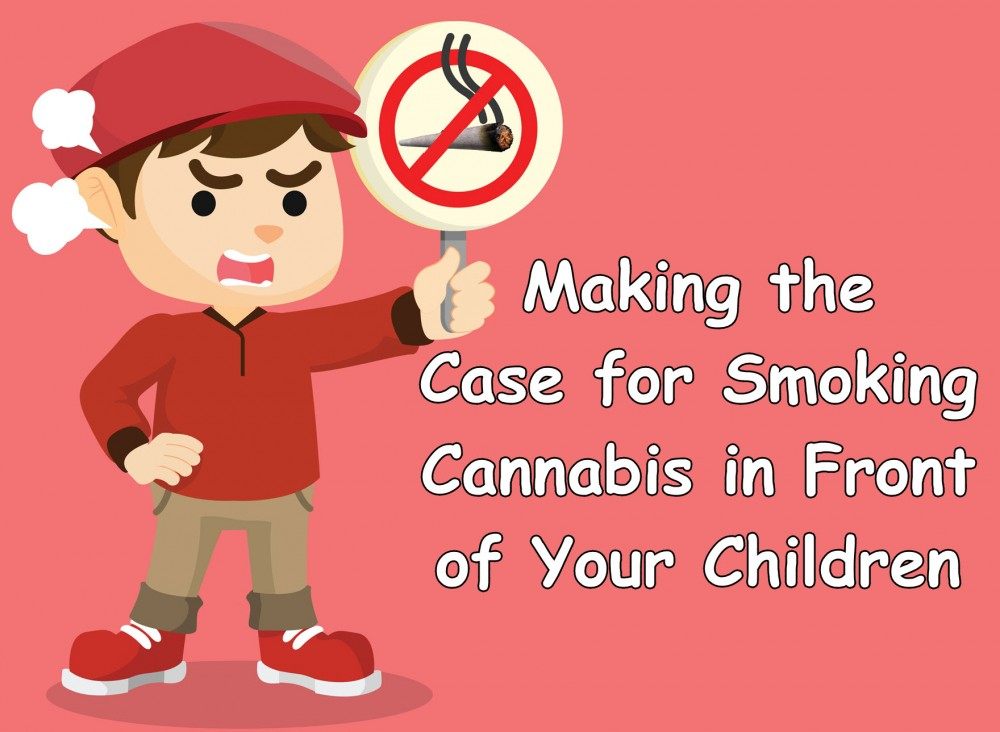 smoking weed in front of kids