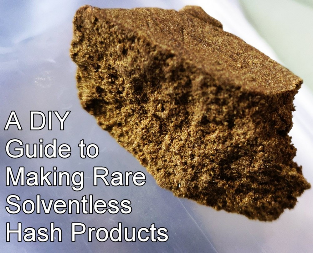 solventless hash products