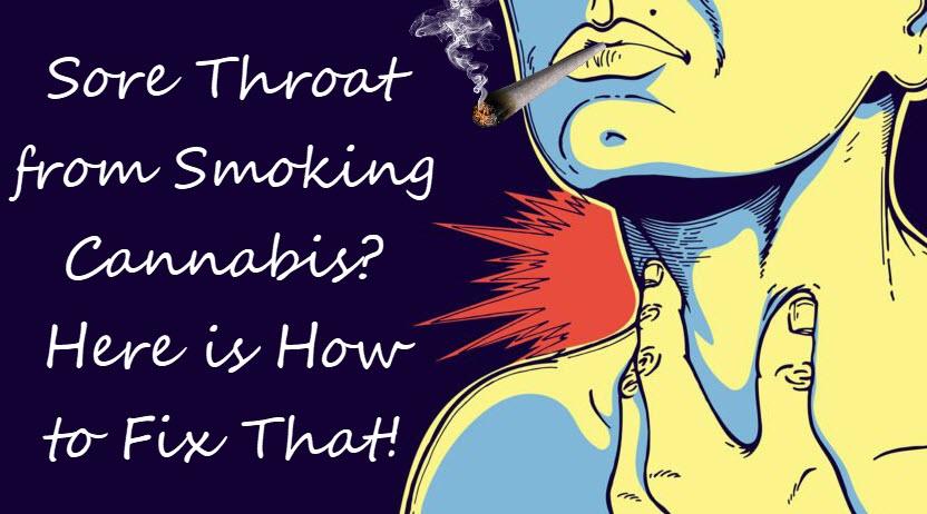 Strep on smoking throat weed Sore Throat