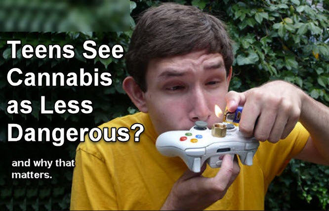 TEENS SEE CANNABIS AS LESS DANGEROUS
