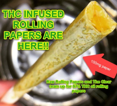 THC INFUSED ROLLING PAPERS
