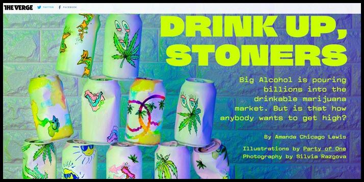 the verge on cannabis beverage