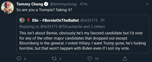 tommy chong on twitter goes nuts