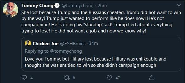 tommy chong twitter politics