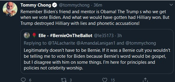Tommy Chong twitter account