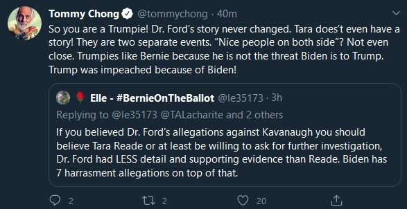 Tommy Chong Twitter rant