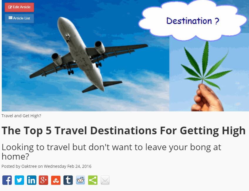 Warm Weather Cannatourism Destinations for Your Summer Vacation