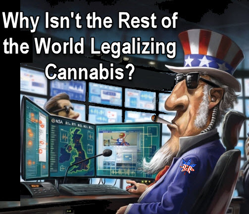 us influence on cannabis around the world