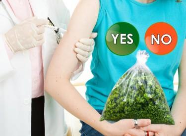 vaccine for a bag of marijuana