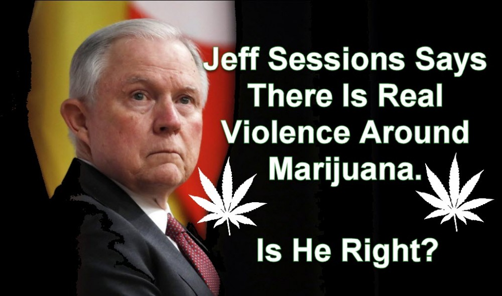 sessions on weed violence