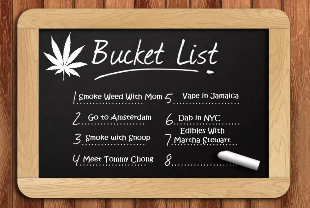 cannabis bucket list