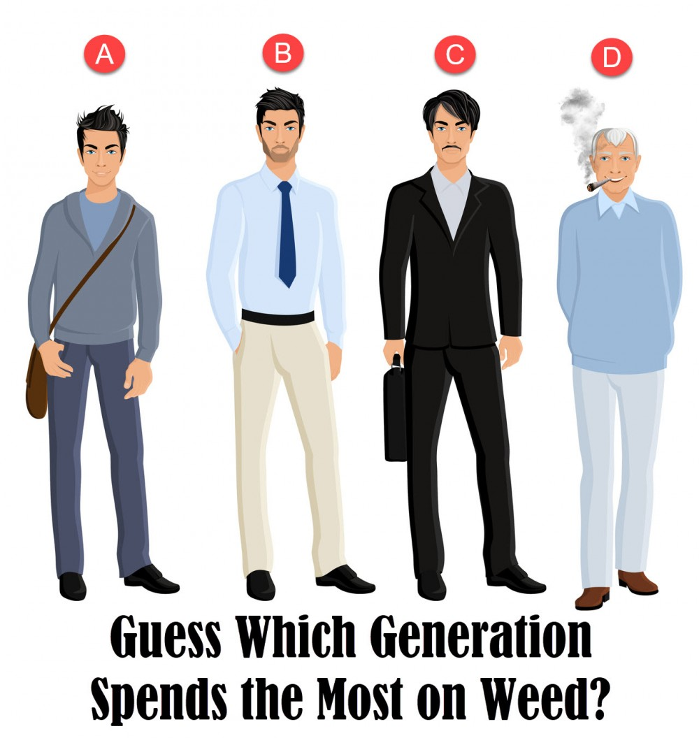 WHICH GENERATION SPENDS THE MOST ON WEED