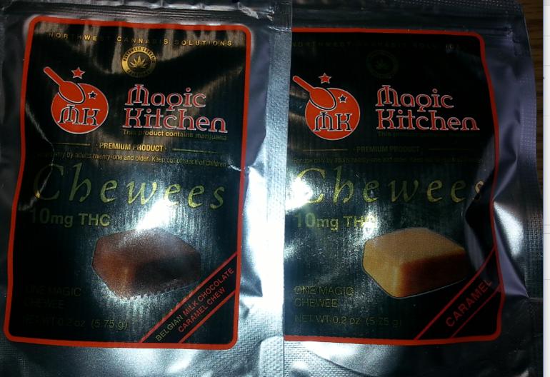 Magic Kitchen Caramels Chewies Regular And Choc 10mg Edible Nimbin Pot Shop
